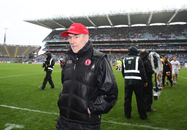 Mickey Harte at the end of the game