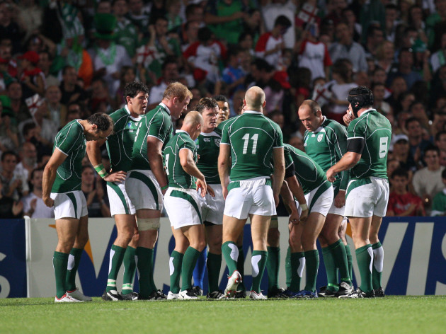 Ireland dejected after Georgia score