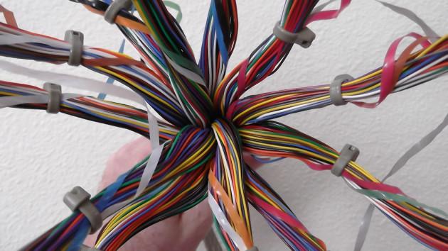 200 pair telephone cable model of corpus callosum