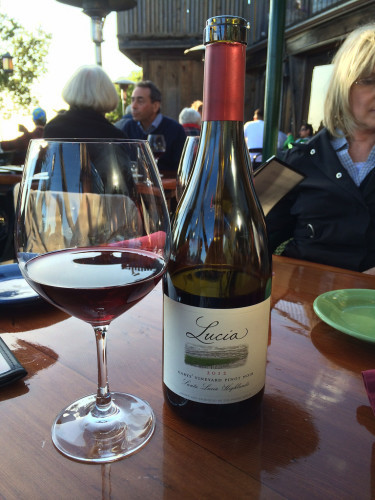 Lucia Pinot Noir at Nepenthe in Big Sur, CA...a must stop!