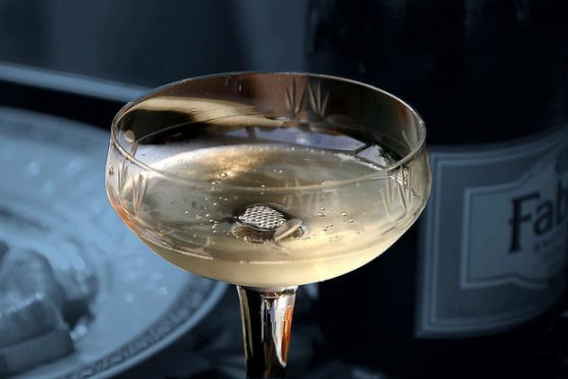 Enjoying champagne