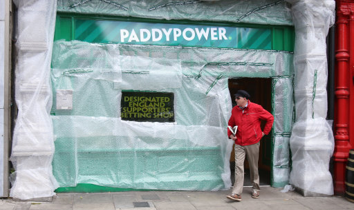 Paddy Power Shop Wrapped in Bubble Wrap