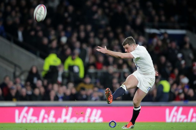 George Ford converts a try