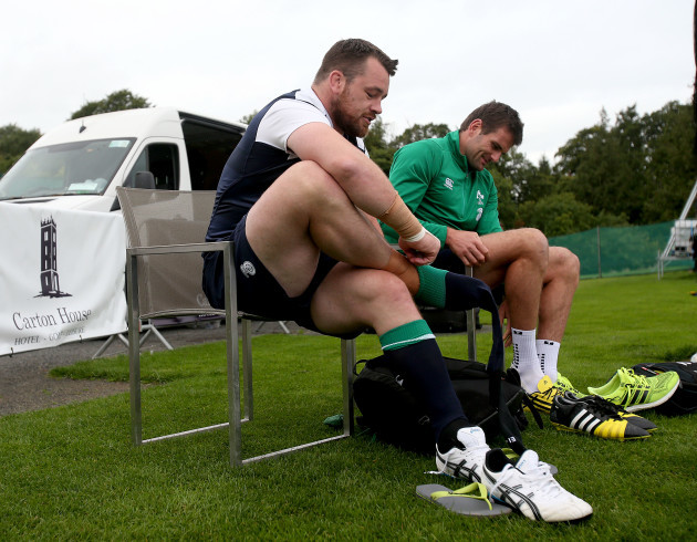 Cian Healy and Jared Payne