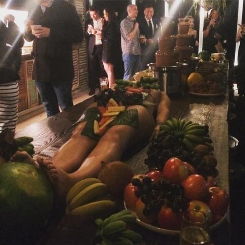 Women naked in fruits shame!