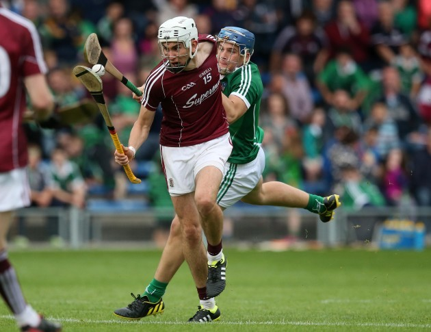 Jason Flynn is fouled by Michael Casey to win a penalty