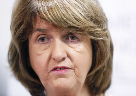 File Photo TANAISTE JOAN BURTON will be a key witness in the expected trial of several of those involved in the controversial anti water charges protest in Jobstown last November. More than 20 people are expected to be charged by the Director of Public Pr