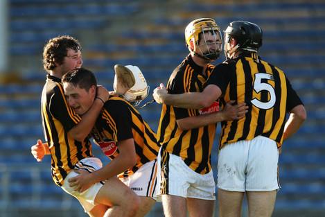 Padraig Walsh, Richie Doyle, Ollie Walsh and Luke Harney celebrate