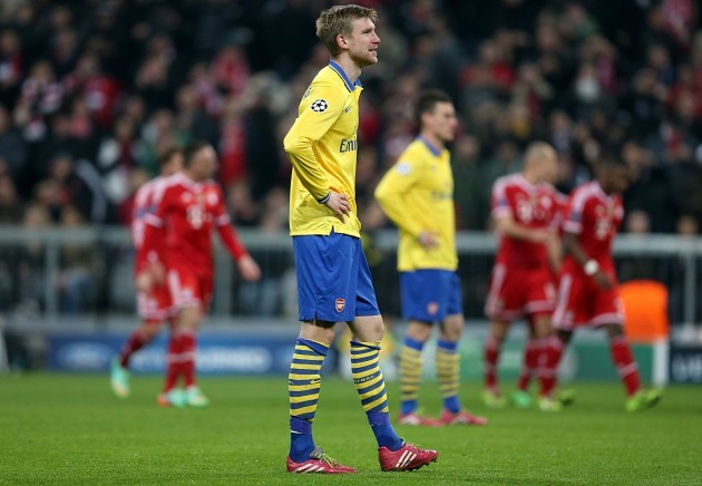Soccer - UEFA Champions League - Round of 16 - Second Leg - Bayern Munich v Arsenal - Allianz Arena