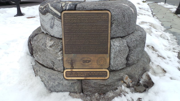 Sandhog memorial in Katona Avenue, the Bronx