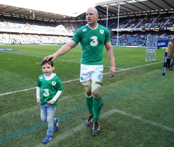 Paul O'Connell with his son Paddy