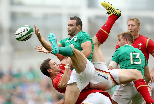 Dave Kearney and Luke Fitzgerald with George North
