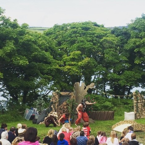 An outdoor performance of The Jungle Book in The Glebe. What a perfect evening, what an amazing view!! #theglebe #baltimore #westcork #thejunglebook #home