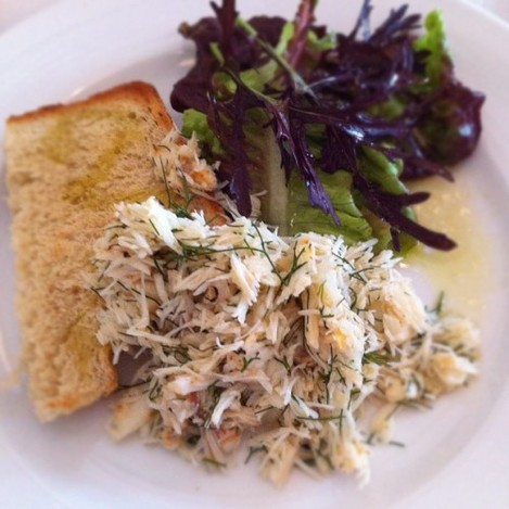 Crab Salad at Glebe Gardens Cafe