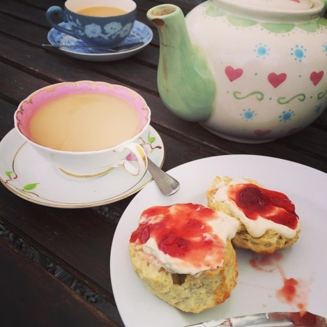 Yum #scones and #tea