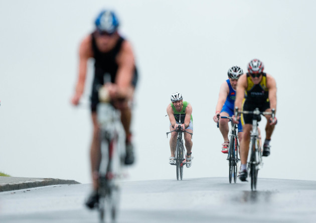 A view of the Olympic distance triathlon