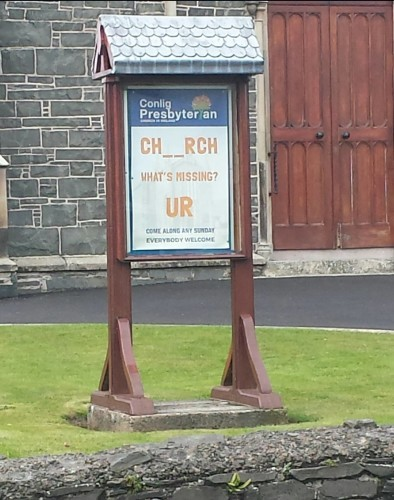 This Down church's sign is going viral for all the wrong reasons