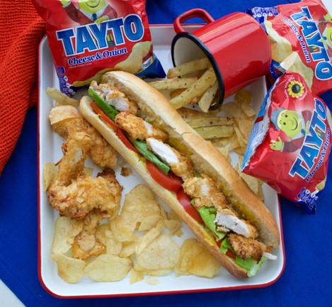 filled tayto chicken roll