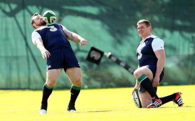 Cian Healy and Tadgh Furlong