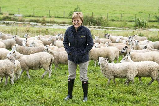 Sturgeon visits South Slipperfield Farm