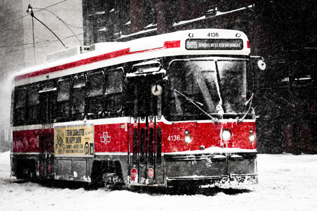 Toronto's Winter Tank - TTC Street Car (42/365)