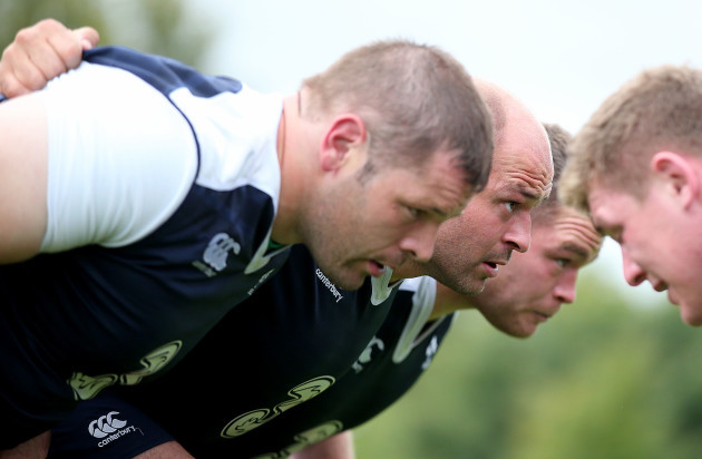 Mike Ross, Rory Best and Jack McGrath