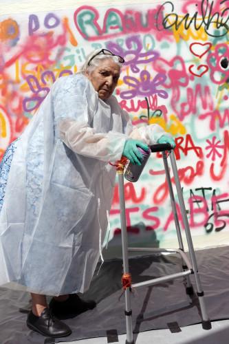 Portugal Elderly Graffiti