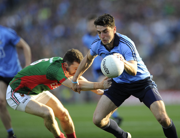 Bernard Brogan with Chris Barrett