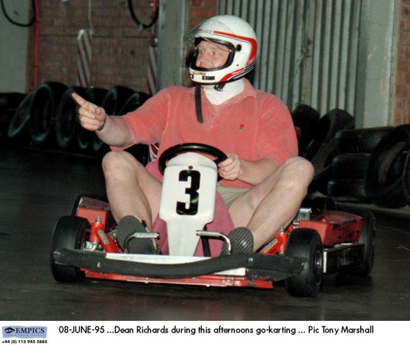 Rugby Union World Cup 1995 ... England Team Go-karting