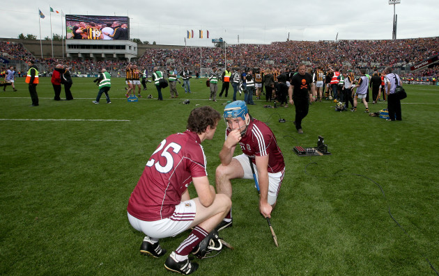 Joseph Cooney and Conor Cooney dejected