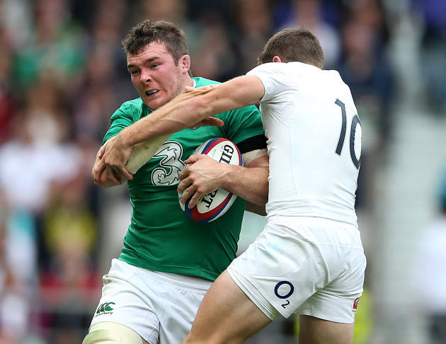 Peter O'Mahony with George Ford
