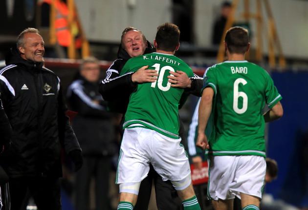 Soccer - UEFA Euro 2016 - Qualifying - Group F - Faroe Islands v Northern Ireland - Torsvollur