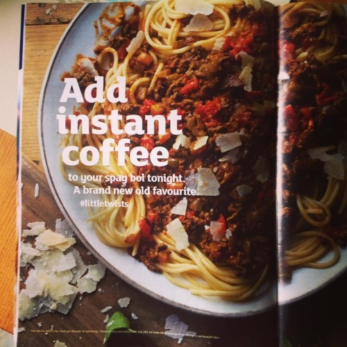 Coffee + Spag Bol in one mouthful?!! Sold