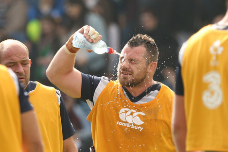 Cian Healy cools down