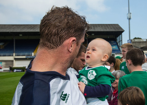 Jamie Heaslip with Ireland supporters