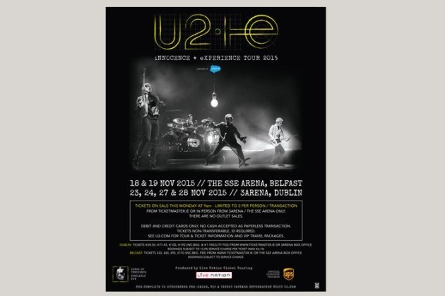 Confirmed: U2 are playing four nights in Dublin this November