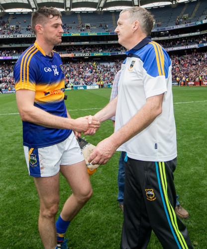 Eamon OÕShea consoles Seamus Callanan after the game