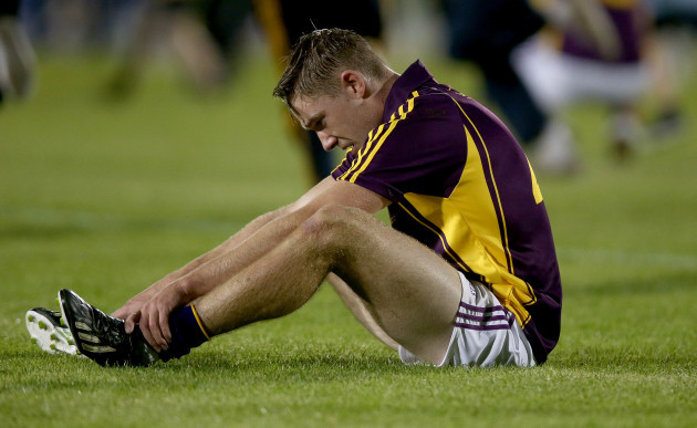 Eoin Conroy dejected at the end of the game