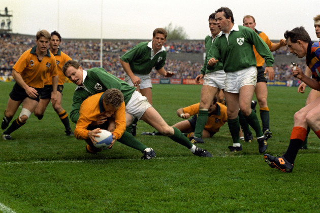 Rugby Union - 1991 Rugby World Cup - Quarter final - Ireland v Australia - Lansdowne Road