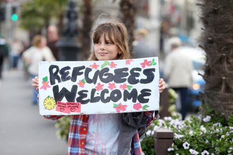 12/09/2015. Refugees Welcome.Pictured Jahnavi Ryny