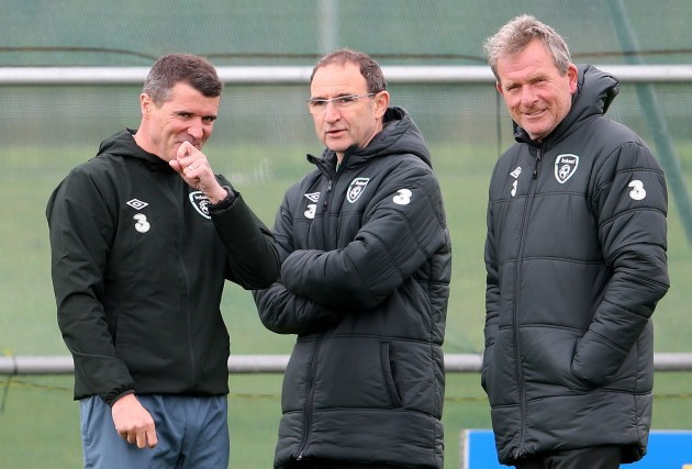 Roy Keane with Martin O'Neill and Steve Walford