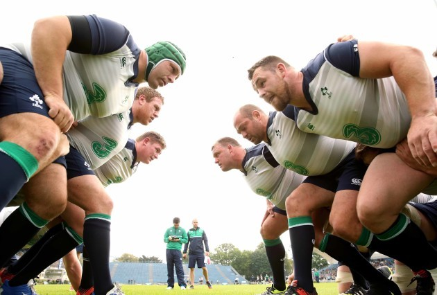 Mike Ross, Sean Cronin, Tadhg Furlong, Nathan White, Rory Best and Cian Healy