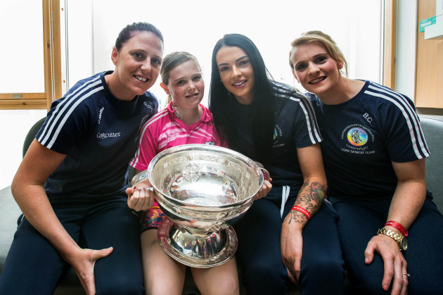 Aoife Lucey with Gemma O'Connor, Ashling Thompson and Briege Corkery