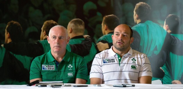 Mick Kearney and Rory Best