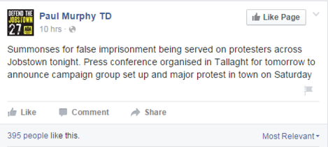 jobstown protest