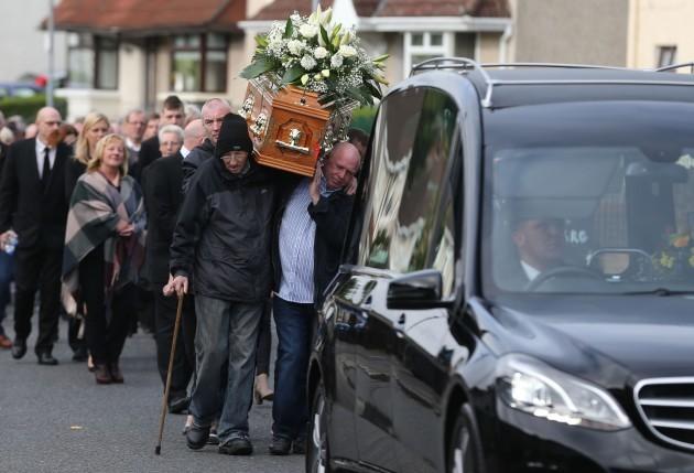 Seamus Wright funeral