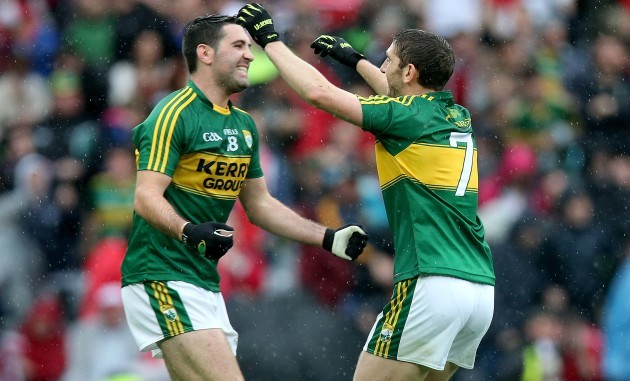 Aidan O'Mahony and Paul Murphy celebrates at the final whistle