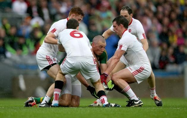 Kieran Donaghy surrounded