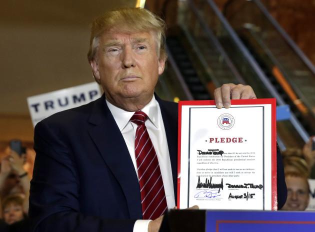 GOP 2016 Trump RNC Pledge