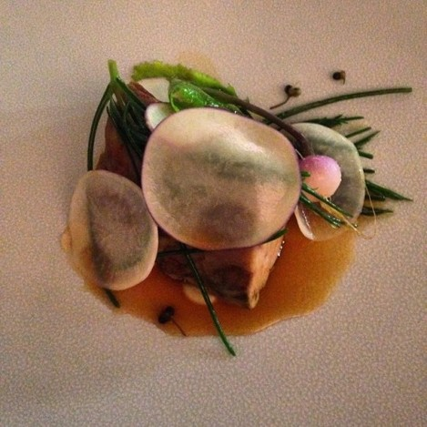 Lamb shoulder, turnip, damson @ Loam in Galway #finedining #lamb #galway #food